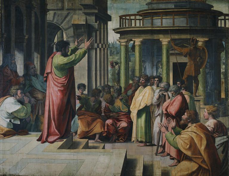 VA_-_Raphael_St_Paul_Preaching_in_Athens_1515-1